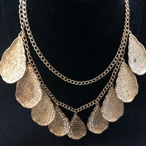 Jewelry - Scaasi Signed Double Strand Goldtone Necklace